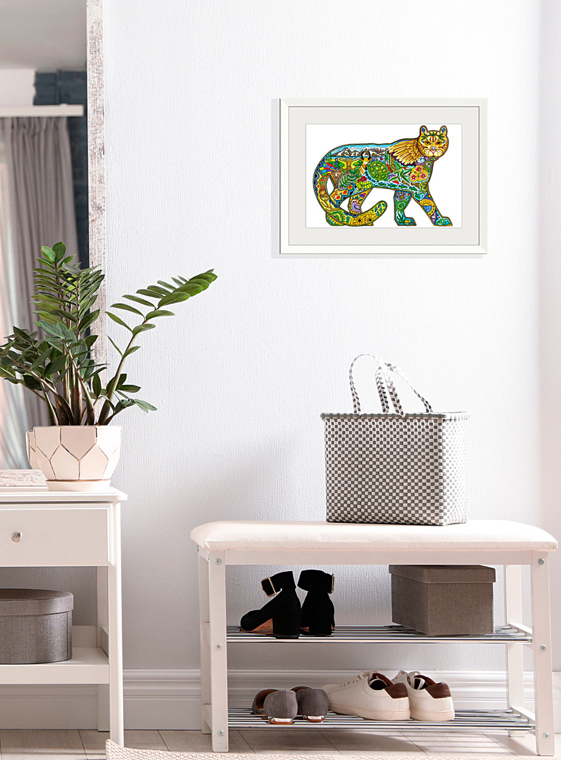 Simons Maison Black Sacred mountain lion art print  18