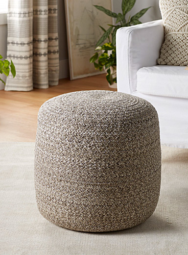Heathered pouf