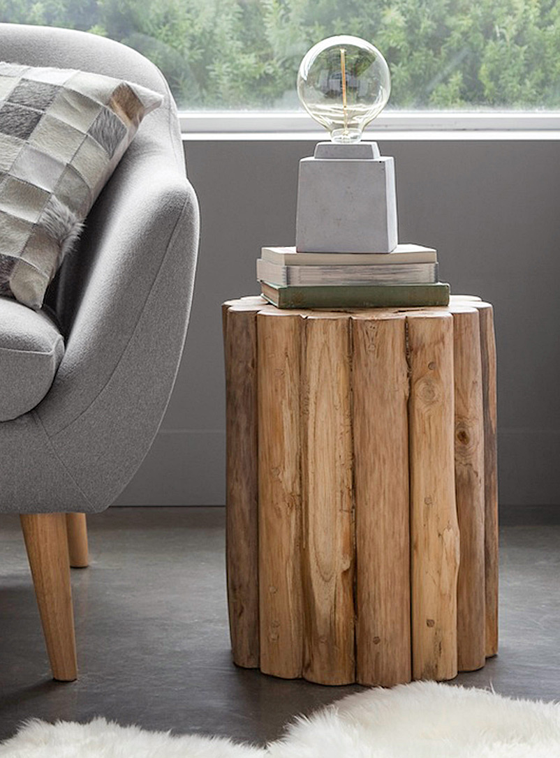 Simons Maison Assorted Natura Kotak round accent table