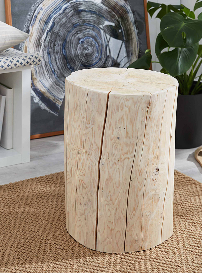 round-stump-end-table