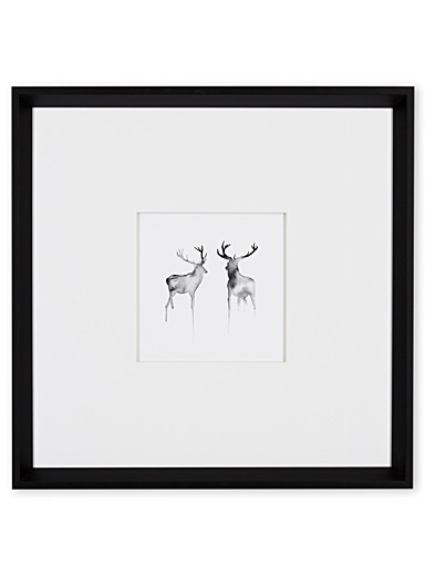Two Stag art print  17.5&quote; x 17.5&quote;