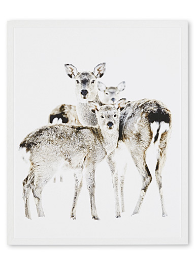 Deer family art print  2 sizes available