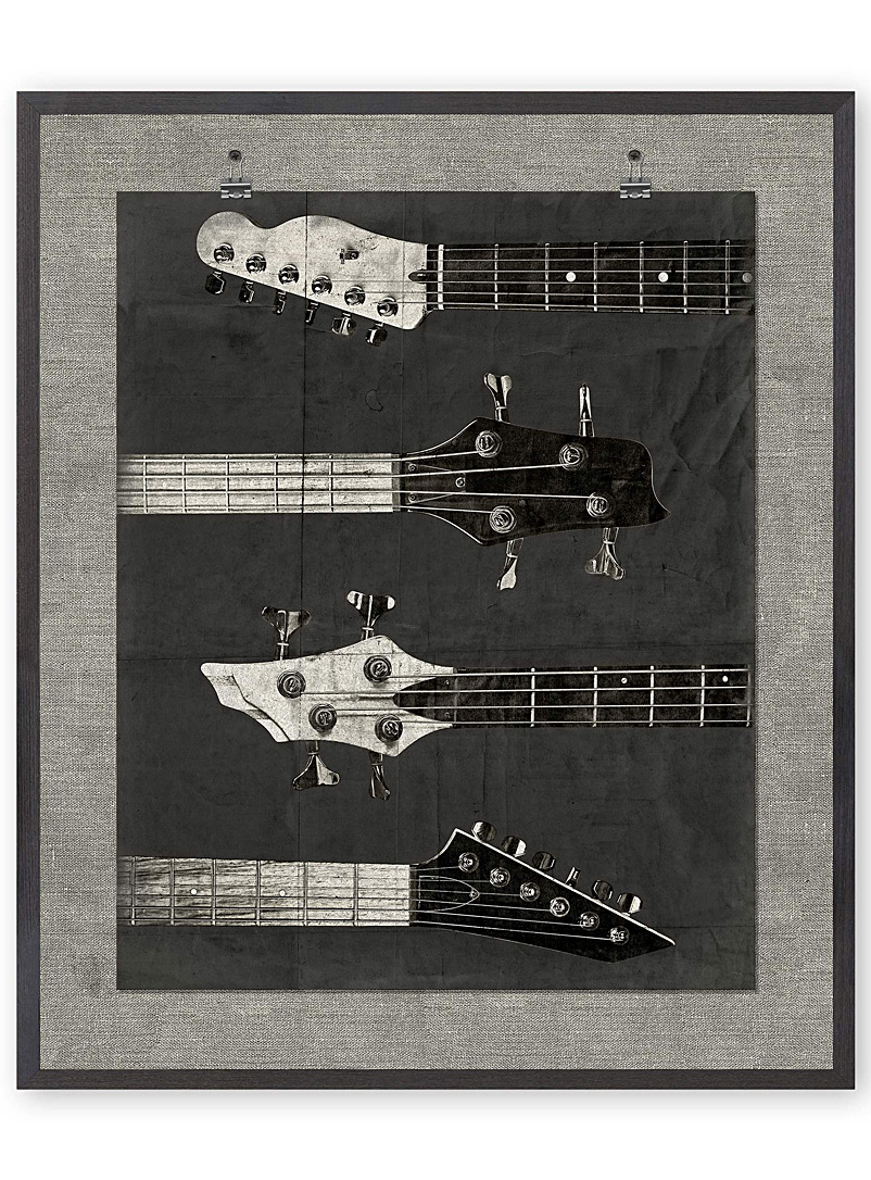 Guitar art print  21&quote; x 25&quote; - Photography - Patterned Black