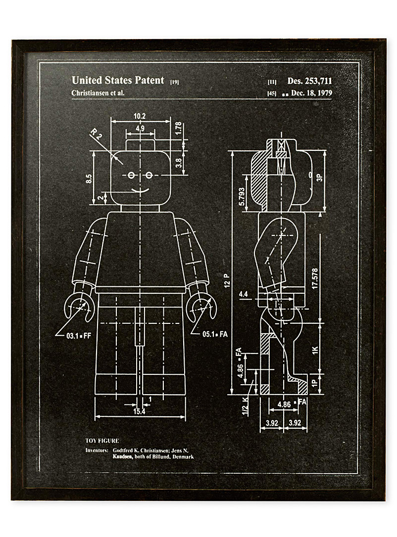 Lego Man Patent art print  16.75&quote; x 20.75&quote;