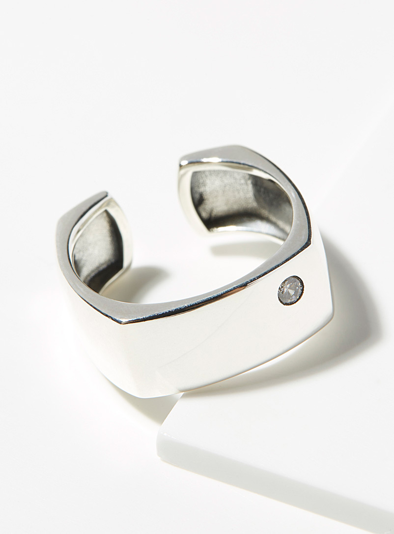 Simons Silver Genuine silver massive ring for women