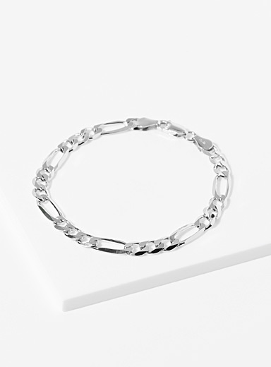 Le bracelet mailles figaro arrondies XL