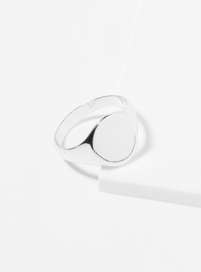Le 31 Silver Minimalist silver signet ring for men