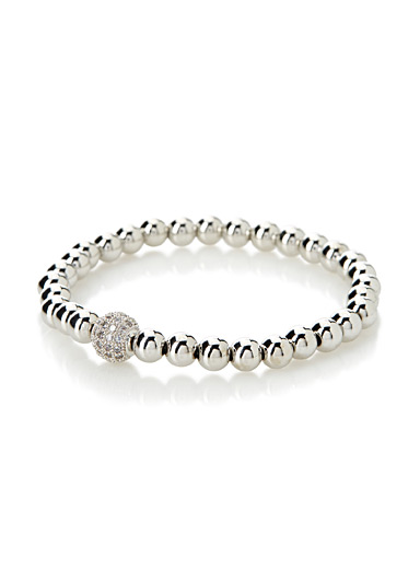 Simons Silver Metallic globe bracelet for women