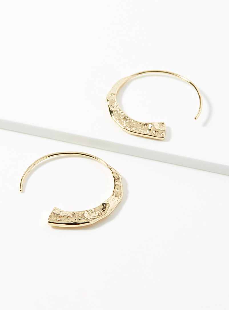 Pilgrim Assorted Hammered gold hoops for women