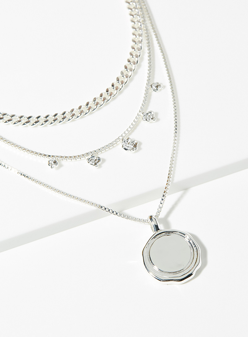 Air silver necklace
