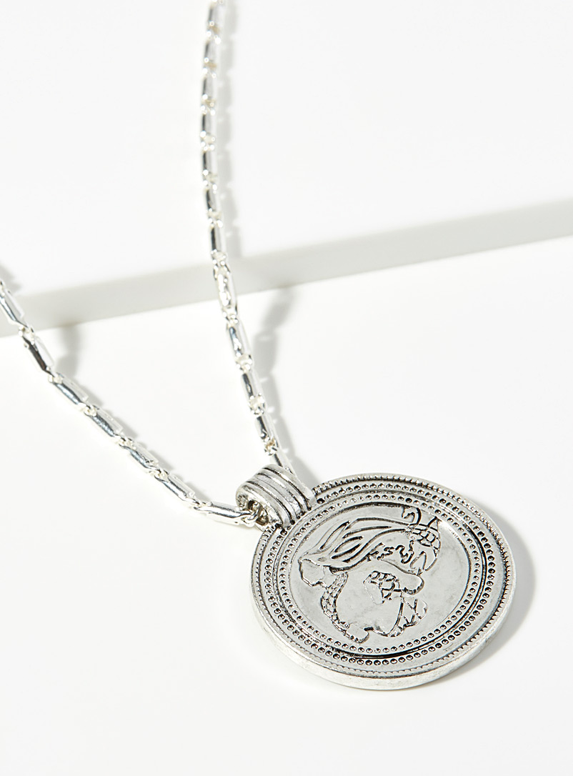Pilgrim Silver Goddess of the sea necklace for women