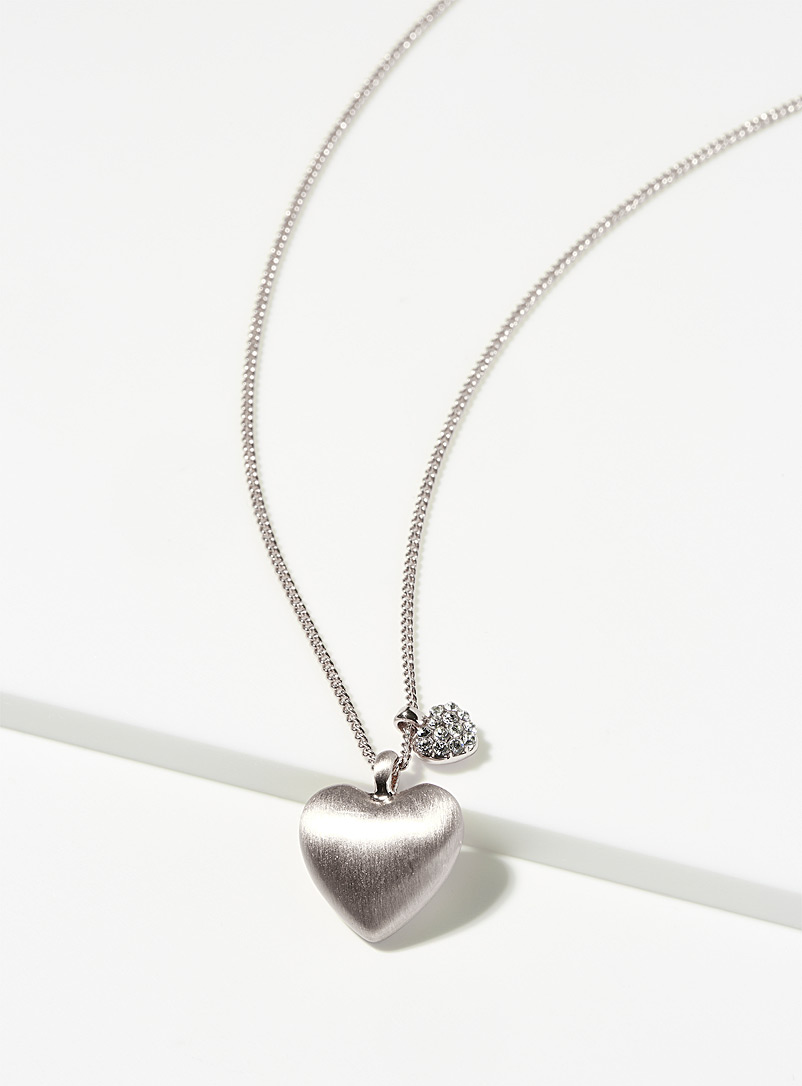 Lovers hearts necklace - Designer Jewellery - Silver