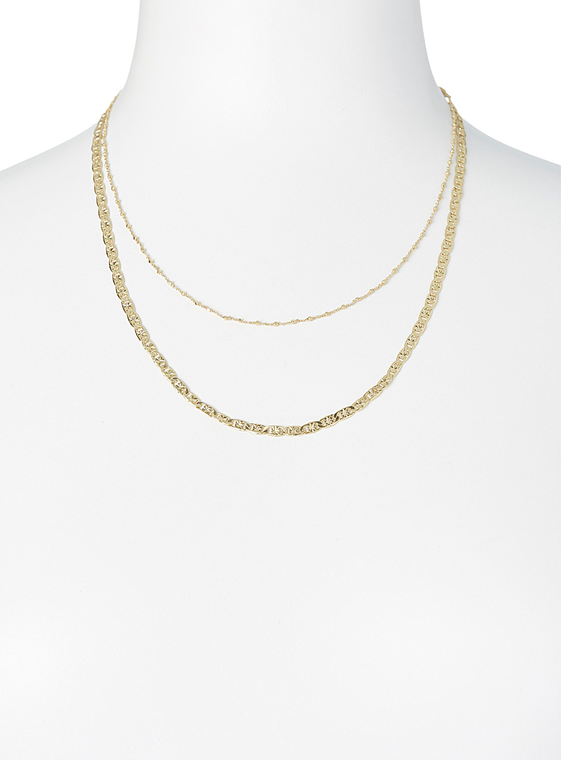 Pilgrim Assorted Intuition chains  Set of 2 for women