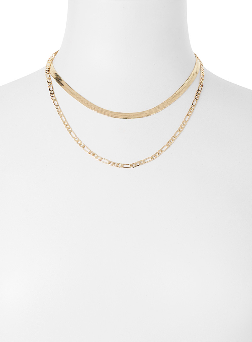 Modern chains  Set of 2 - Necklaces - Gold