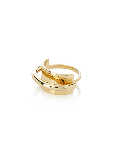 Golden hoop ring