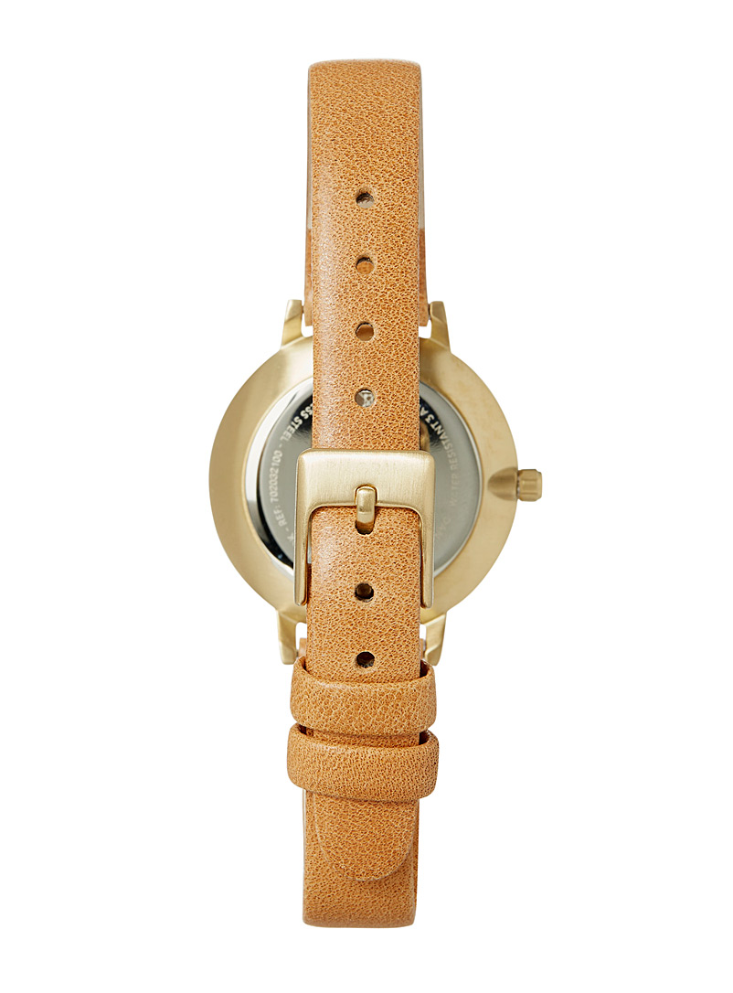 Pilgrim Patterned Yellow Nerine gold watch for women