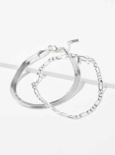 Modern chain bracelets <br>Set of 2