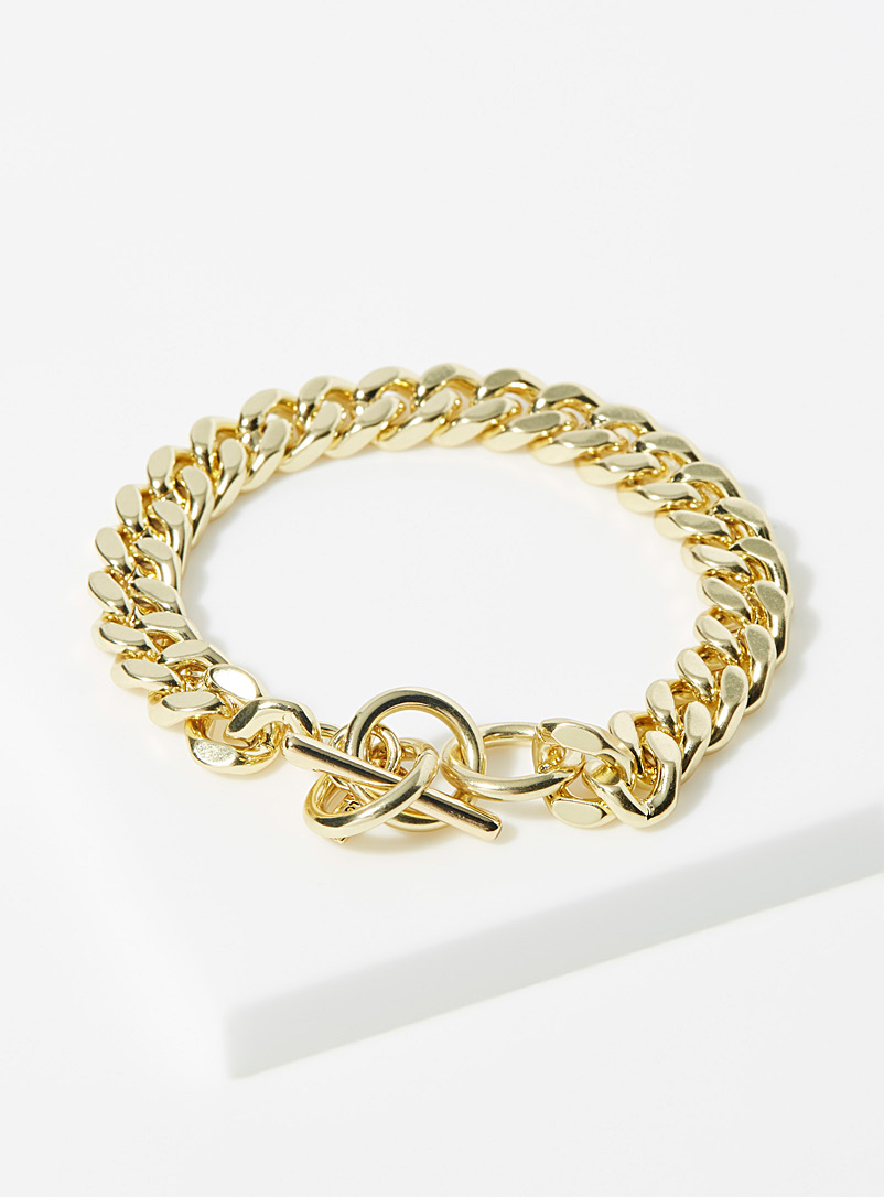 Pilgrim Gold Curb chain bracelet for women