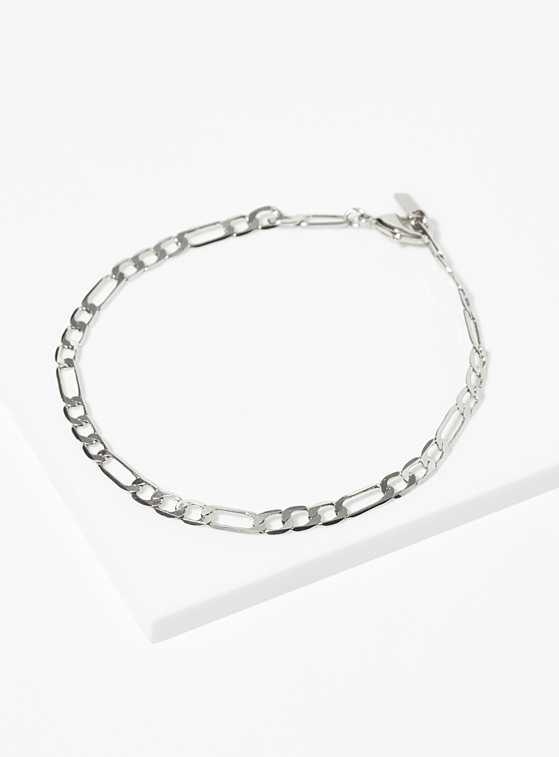 Pilgrim Silver Figaro chain bracelet for women