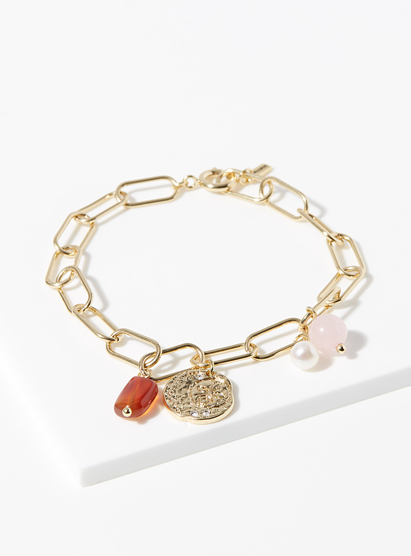 Pilgrim Assorted Stone charm bracelet for women