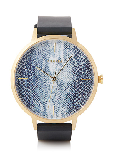 Adeline snake print watch