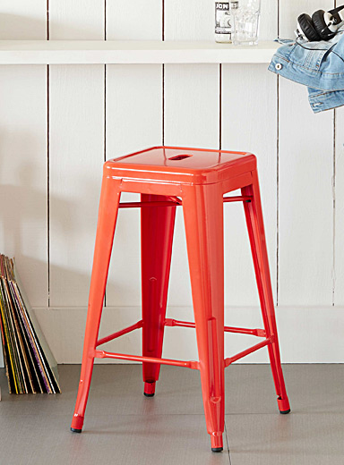 Coloured industrial stool