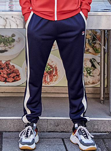 Vertical athletic band joggers