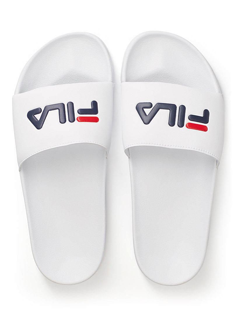 Fila White Tricolour Drifter slides  Women for women
