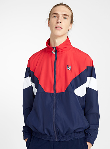 Fila Patterned Red Tricolour coach jacket for men