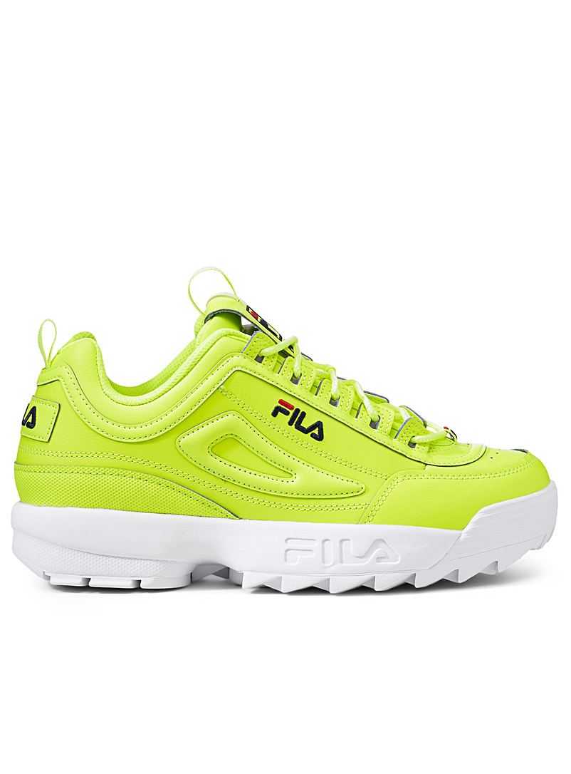 Fila Bright Yellow Disruptor 2 neon sneakers  Men for men
