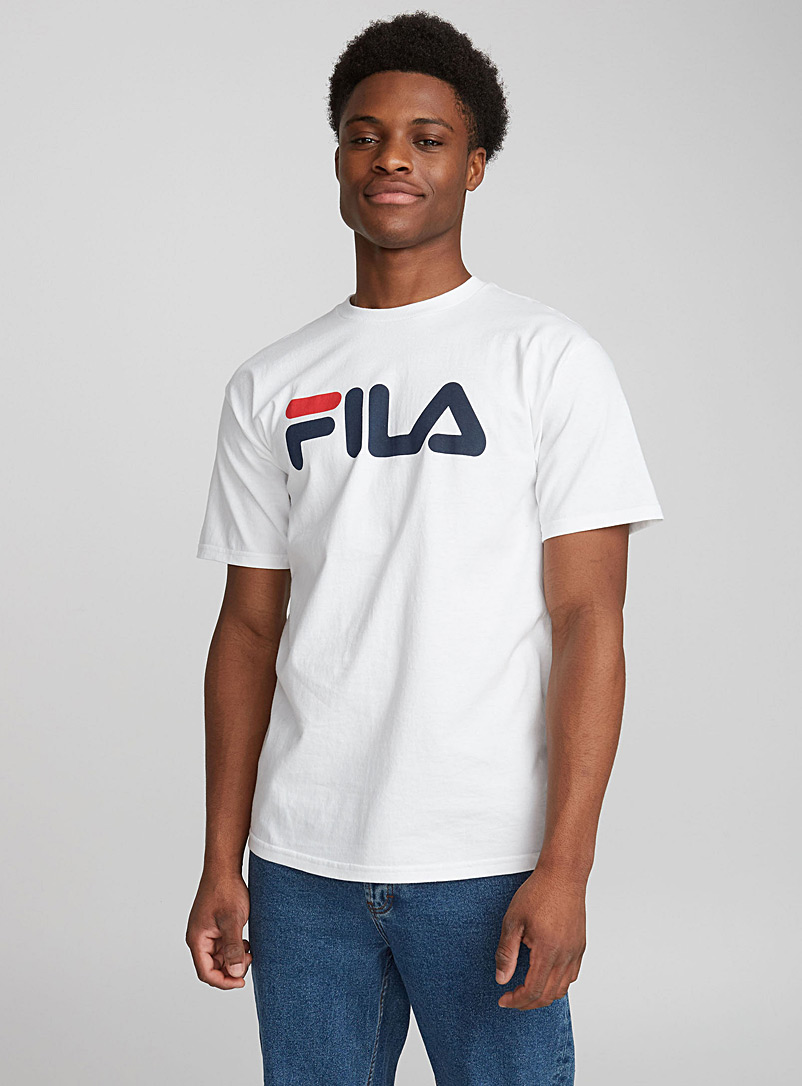 Fila White Retro logo tee for men