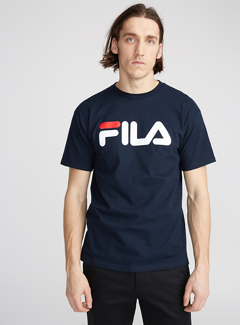 Retro logo tee - Logo wear - Marine Blue
