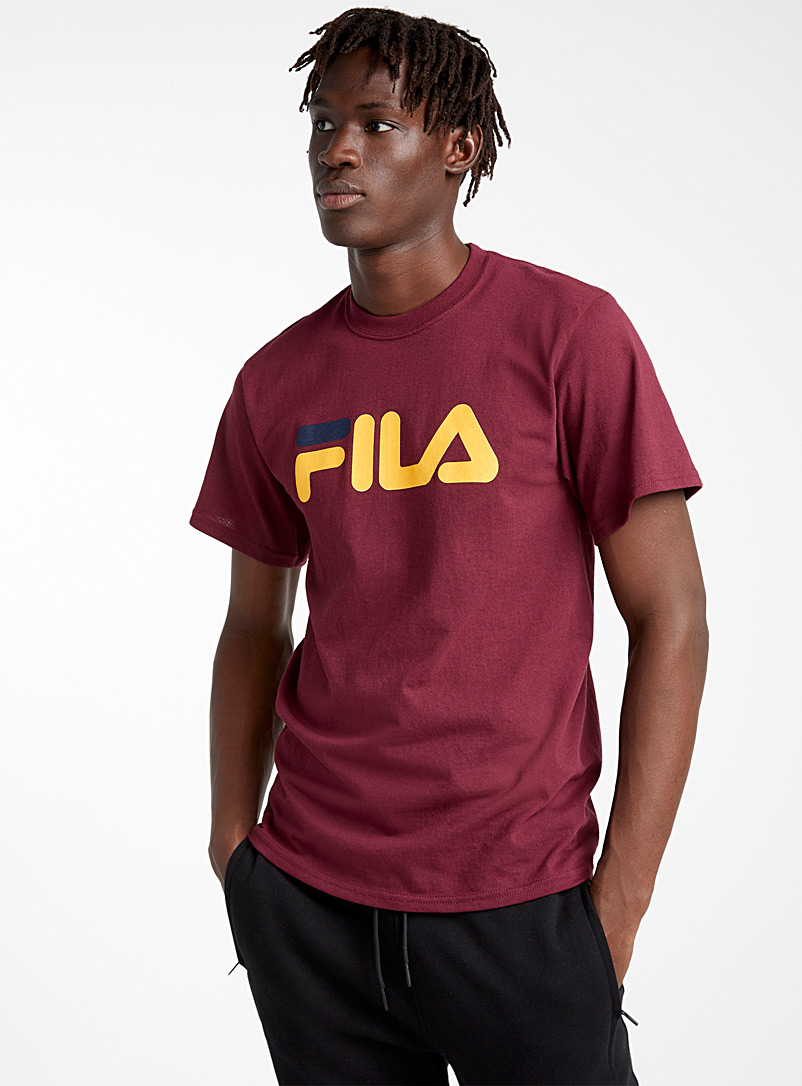 Fila Ruby Red Retro logo tee for men