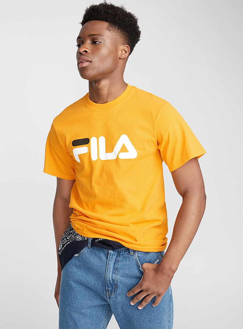 Retro logo tee - Logo wear - Golden Yellow