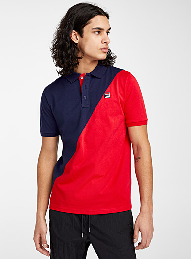 Fila Marine Blue Diagonal block polo for men