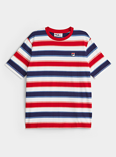 Tricolour stripe T-shirt