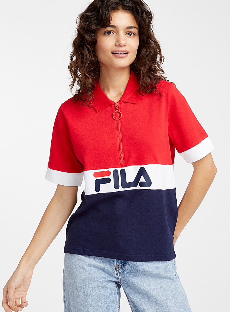 Colour block half-zip polo - Short Sleeves & ¾ Sleeves