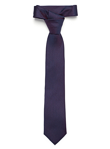 Le 31 Mauve Shiny zigzag tie for men