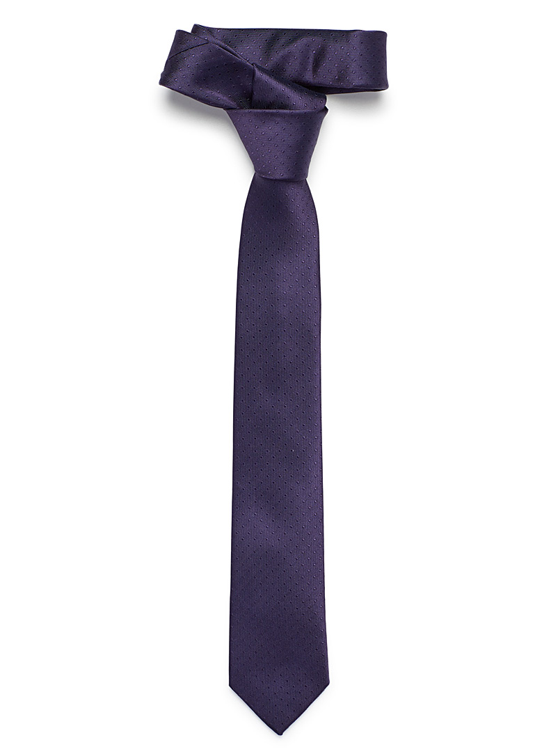 Mini dot tie - Skinny Ties - Mauve