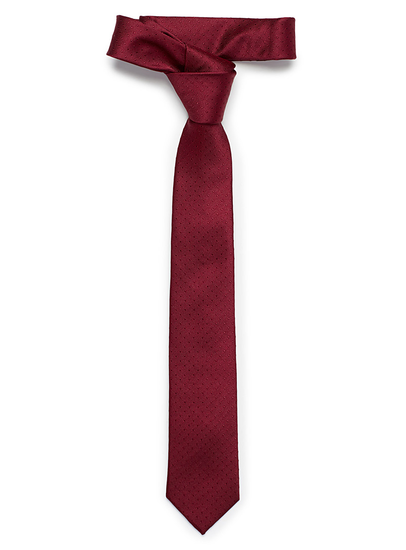 Mini dot tie - Skinny Ties - Ruby Red
