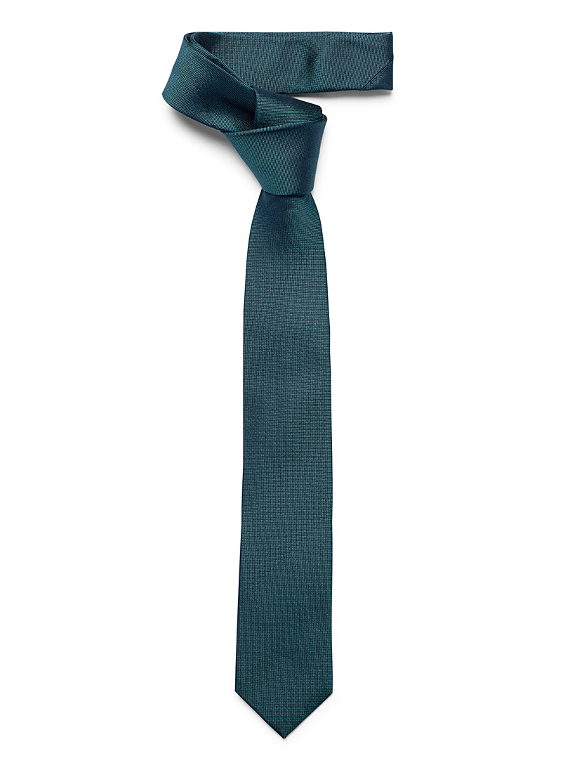Le 31 Black Iridescent coloured tie for men