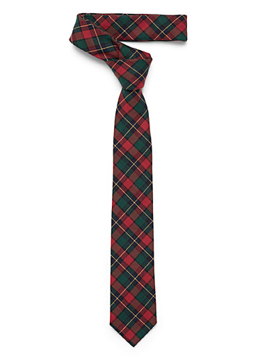 Scottish check tie