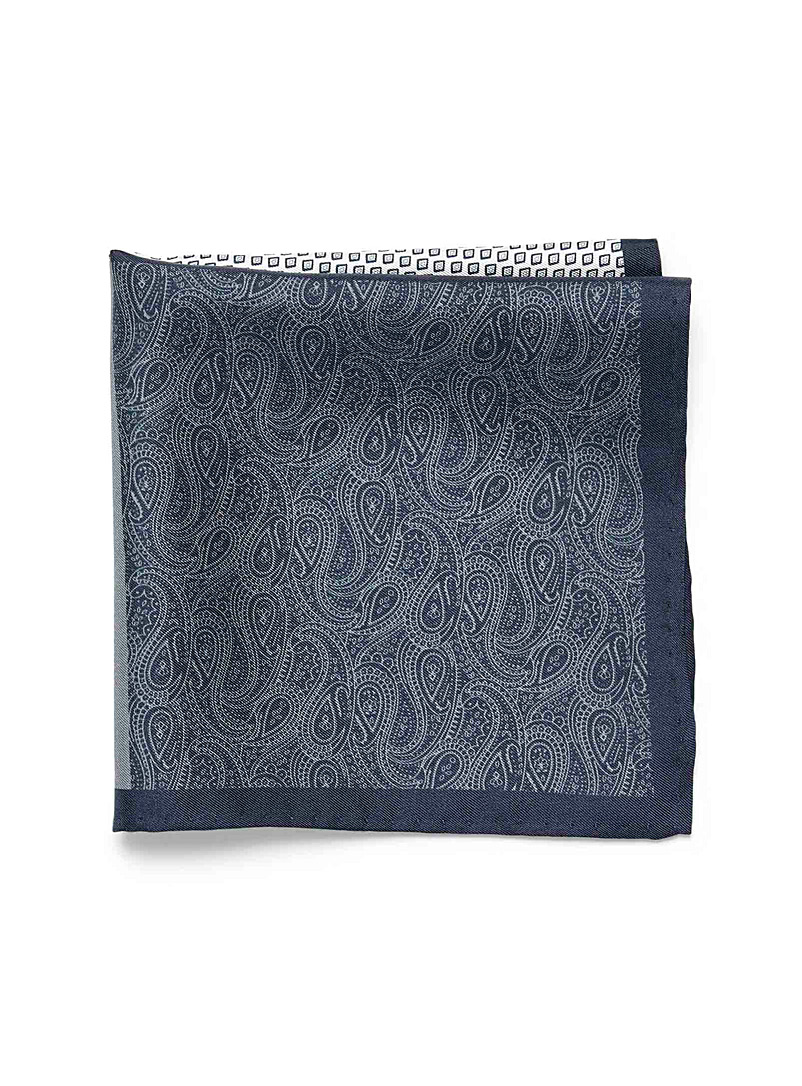 4-in-1 indigo pocket square