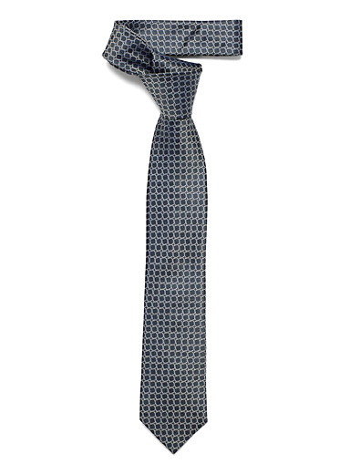 Le 31 Charcoal Irregular circle tie for men