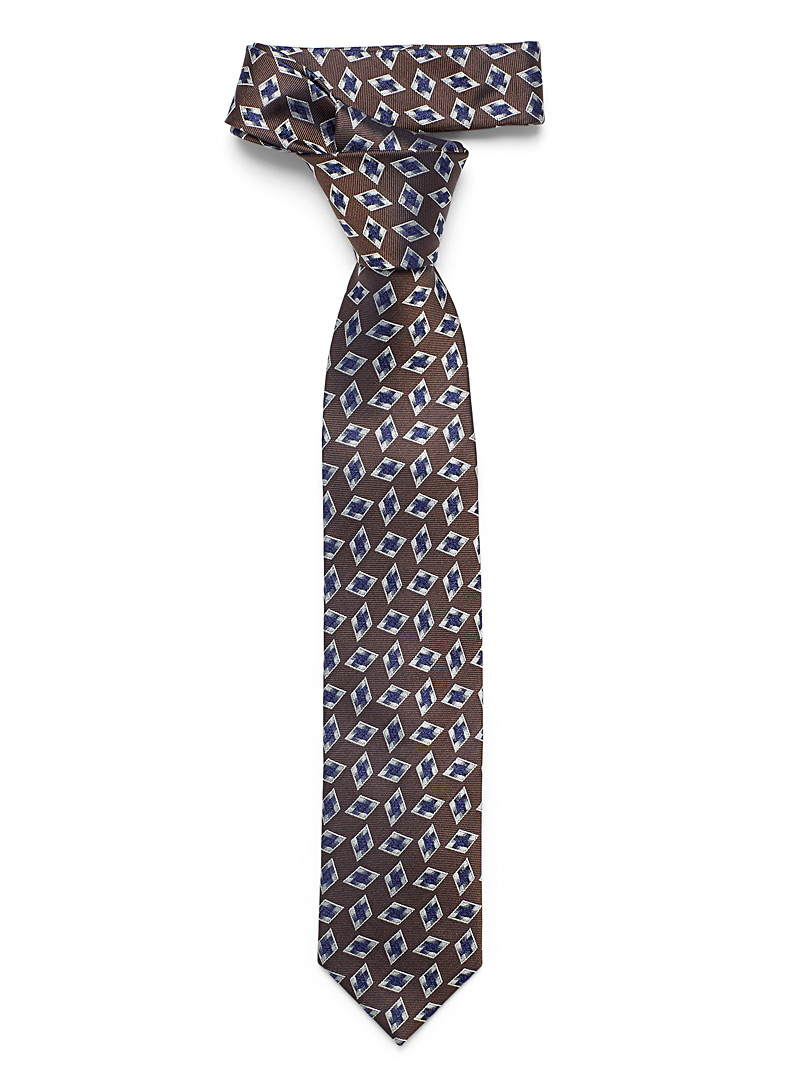 Le 31 Brown Diamond tie for men