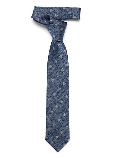 Striped dot foliage tie