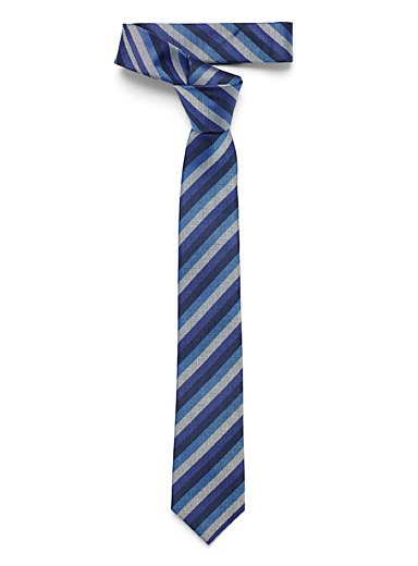 Navy accent striped tie