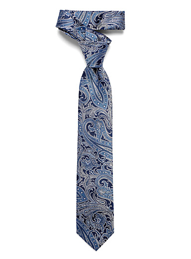 La cravate paisley marine
