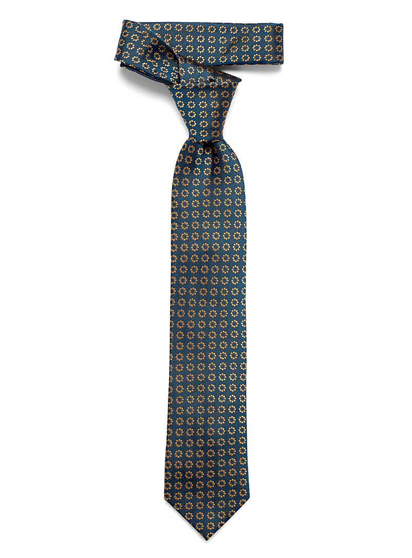 Le 31 Marine Blue Graphic bouquet tie for men