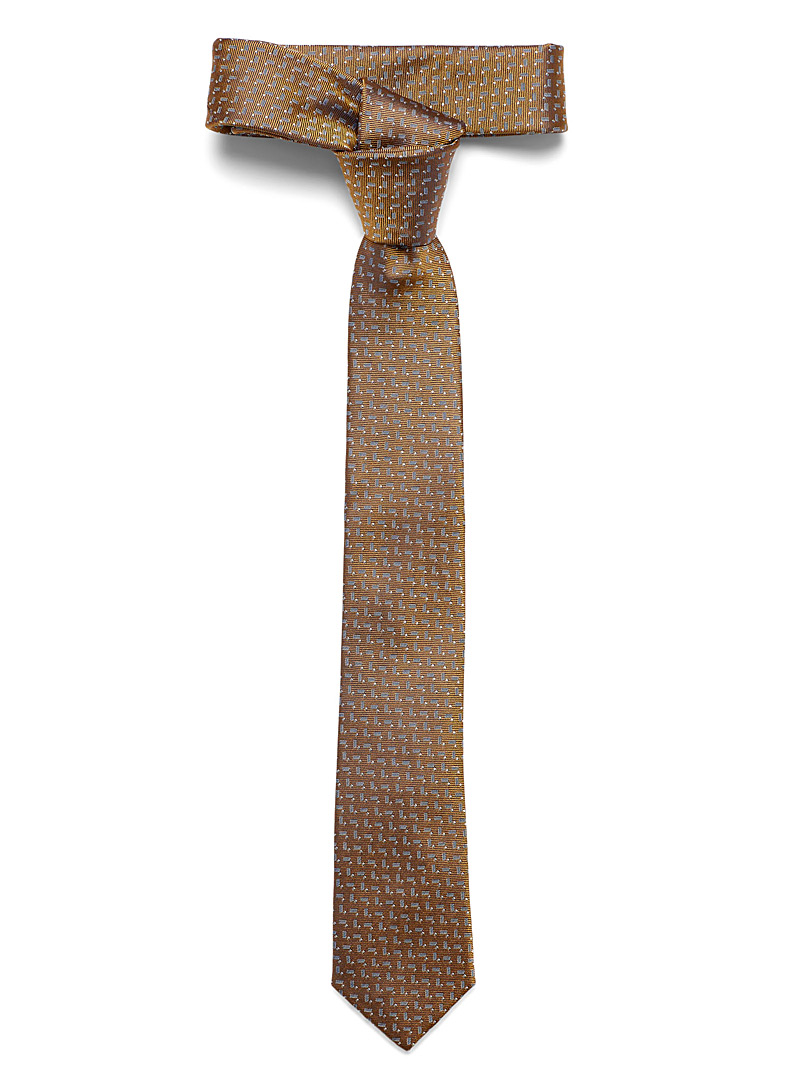 Le 31 Fawn Abstract herringbone tie for men